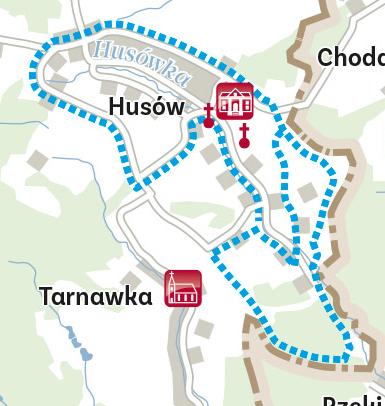 Szlak przydrożnych krzyży i kapliczek w Husowie