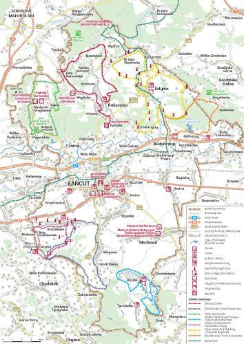 Cała mapa ścieżek rowerowych