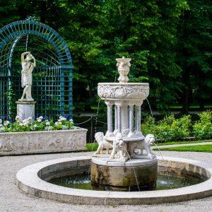 A sculpture in the Łańcut Castle park